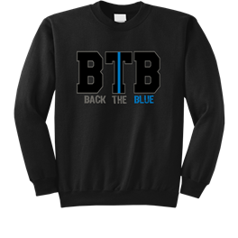 BACK THE BLUE - BTB/Thin Blue Line Custom Tee's