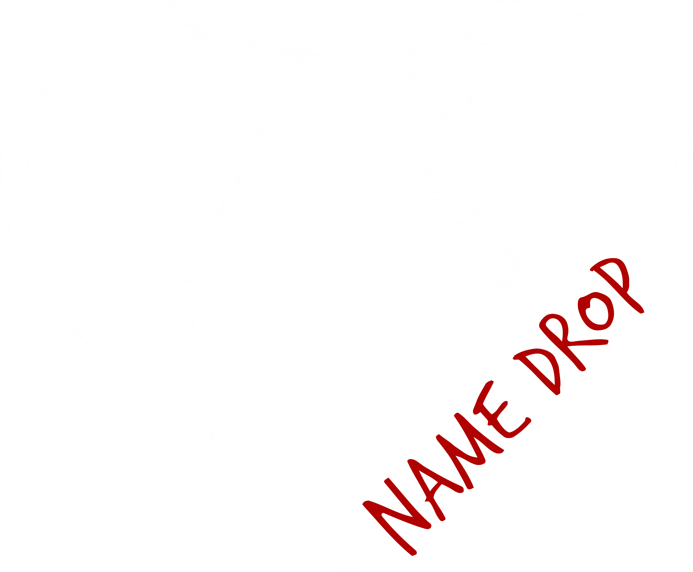 Name Drop Heart Baseball
