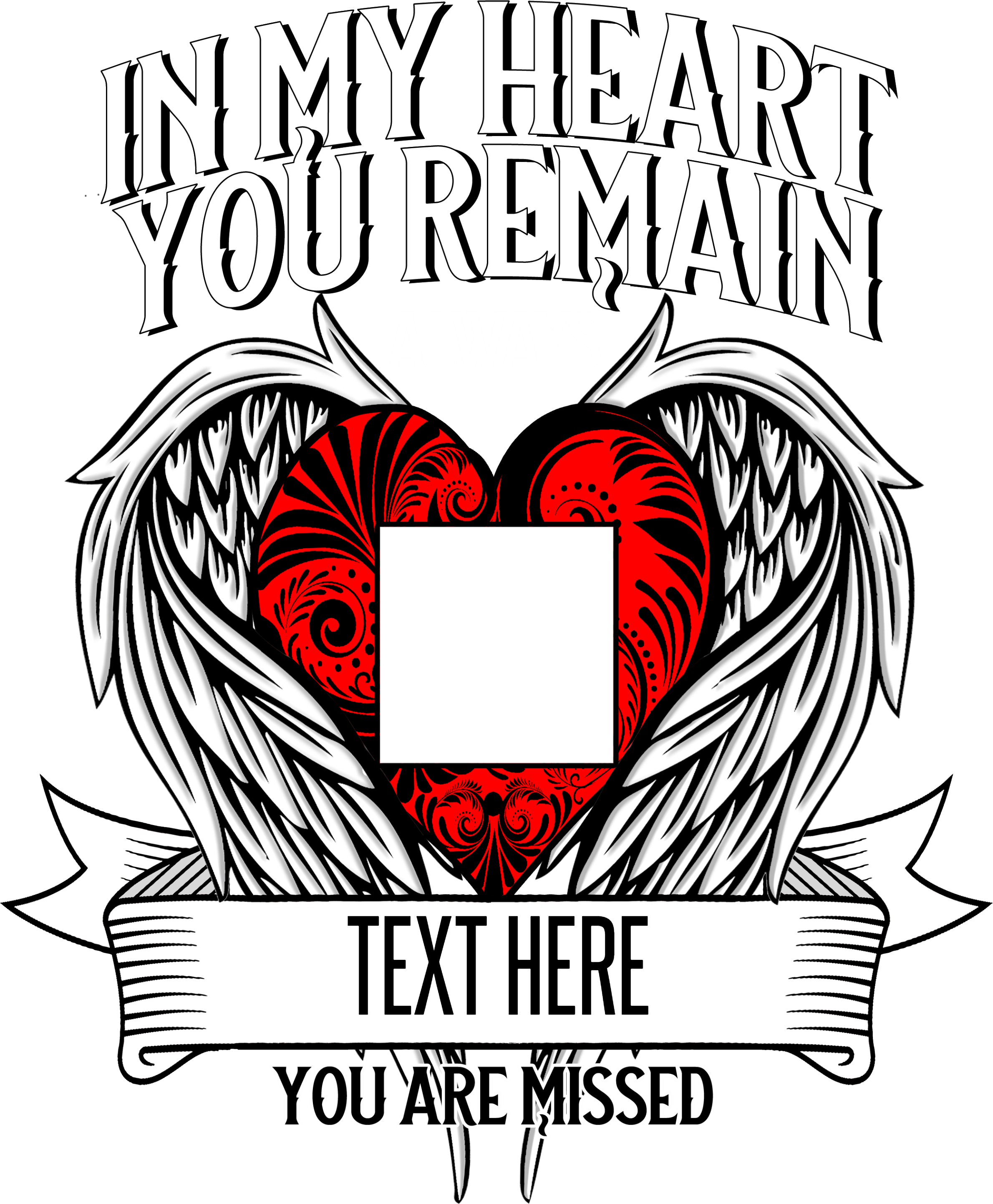 In My Heart Custom Picture