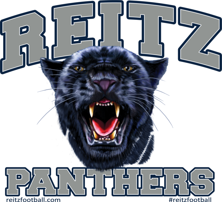 Reitz Panthers Navy Outline