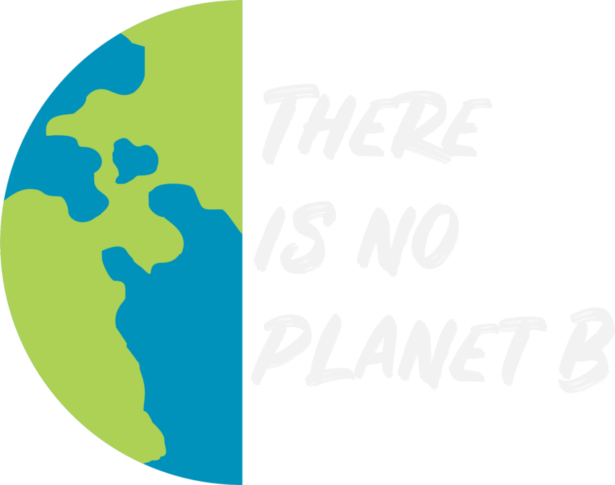 There is no Planet B - white