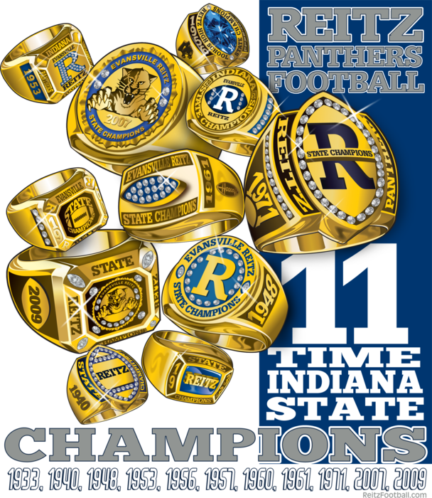 71 Team State Champs Rings