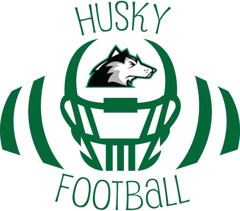 Husky Player in Helmet