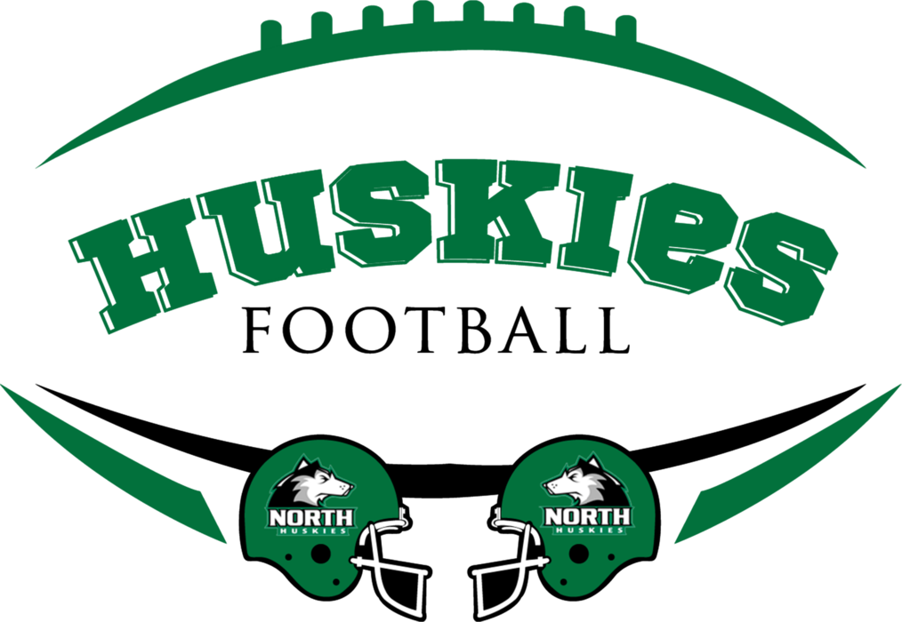 Huskies Football with Helmets