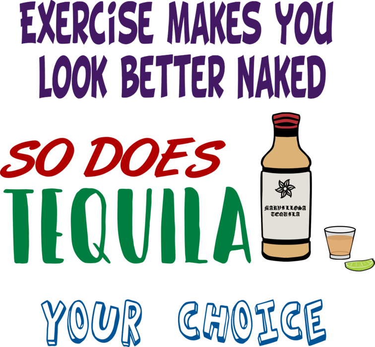 Exercise vs. drink