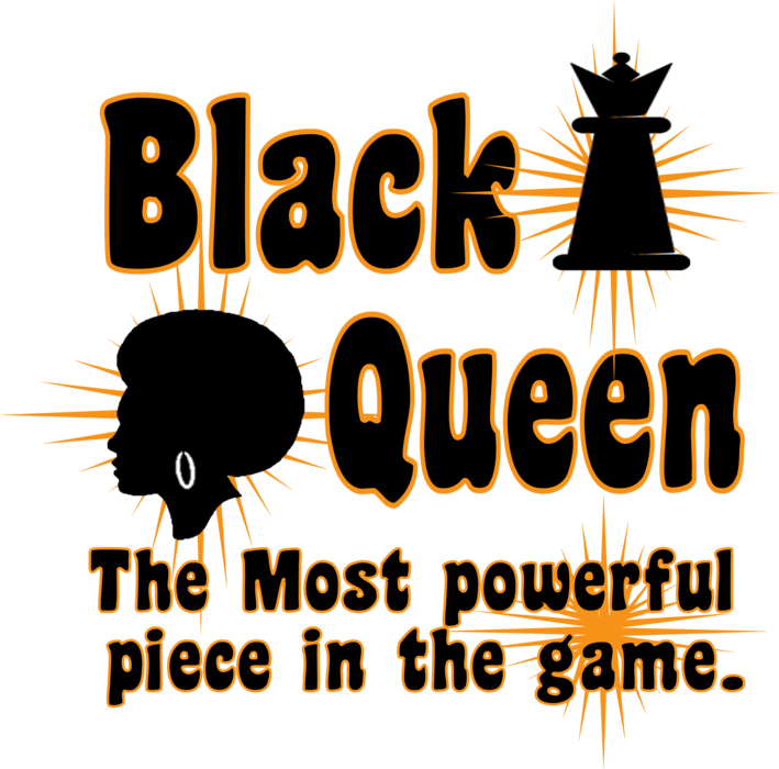 Black Queen The Most Powerful Piece in the Game Women's Custom T-shirt