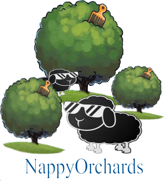 Nappy Wool - Black Sheep with Nappy Orchard Custom T-shirt Afro Tree Royal by AGS Custom Tee's