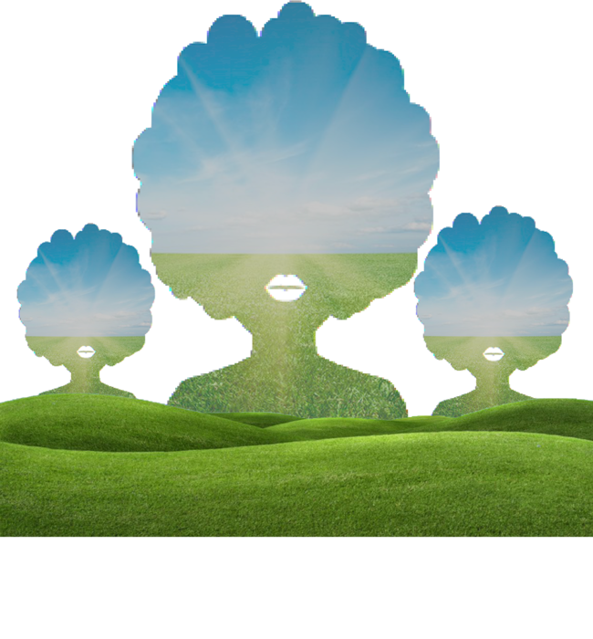Nappy Orchard - Lady Nature Custom Tee - Womens Blk & Assorted Colors