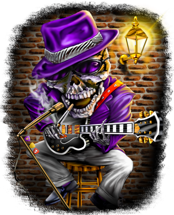 Skeleton with Guitar