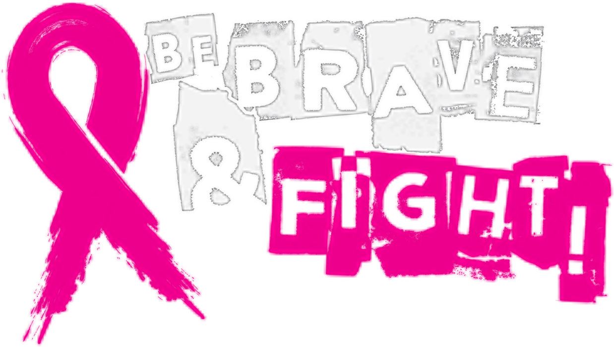 Be Brave and Fight! Breast Cancer Awareness T-shirt  (Dark)